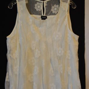 NWT Torrid Women's Ivory Cream Lace Tank Top